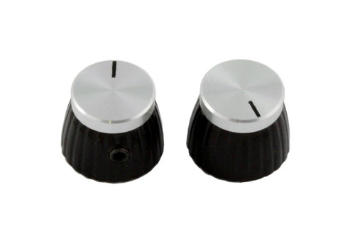 Chrome Top Knobs for Marshall Amps Set of 2