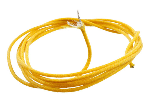 Yellow Vintage Style Cloth Wire for Guitar or Bass 25ft.