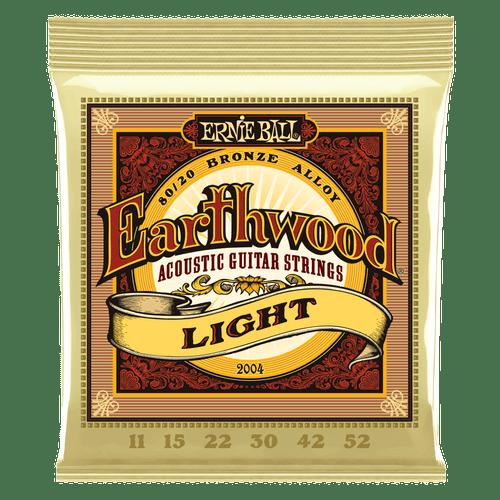 Ernie Ball Earthwood Acoustic 80/20 Bronze Guitar Strings Light