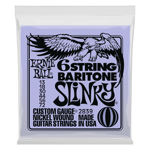 Ernie Ball 6 String Baritone Slinky Electric Guitar Strings