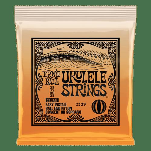 Ernie Ball Ukulele Ball End Nylon Strings Clear