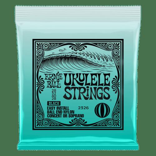 Copy of Ernie Ball Ukulele Ball End Nylon Strings Black
