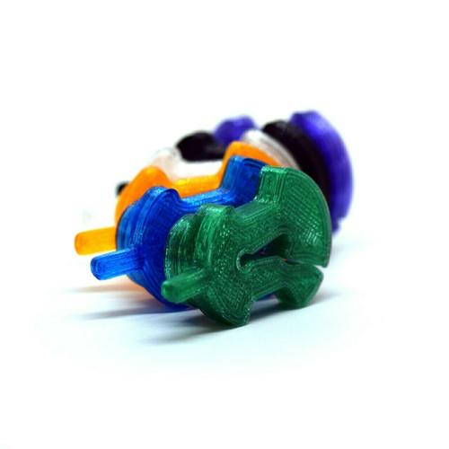 3D Sound Viola Mute Viol-Shaped Sapphire Blue