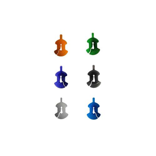 3D Sound Violin Mute Viol-Shaped Amber Orange