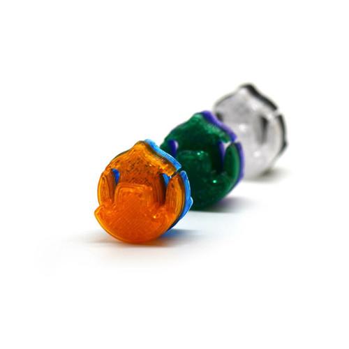 3D Sound Violin Mute Disc-Shaped Amber Orange