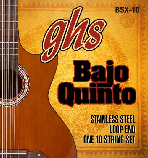 GHS Bajo Quinto Stainless Steel Set Loop End