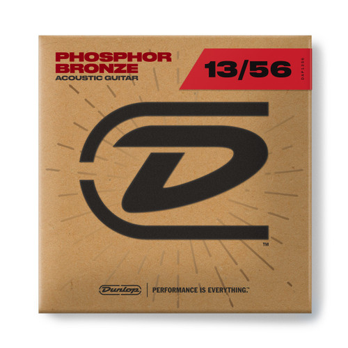 Dunlop PHOSPHOR BRONZE ACOUSTIC GUITAR STRINGS 13-56