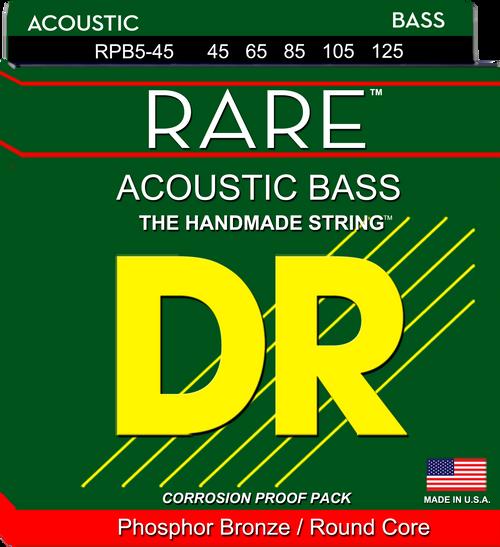 DR Rare Phosphor Bronze Acoustic Bass Strings 5-String Medium 45-125