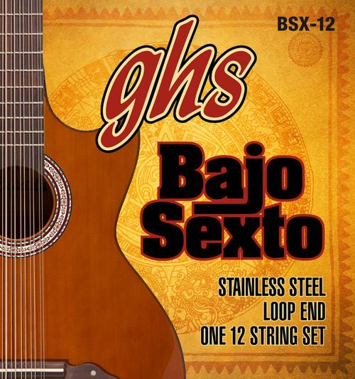 GHS Bajo Sexto Stainless Steel Set Loop End