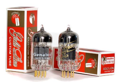 Genalex Gold Lion 12AU7/ECC82/B749 Custom Tube Gold Pins