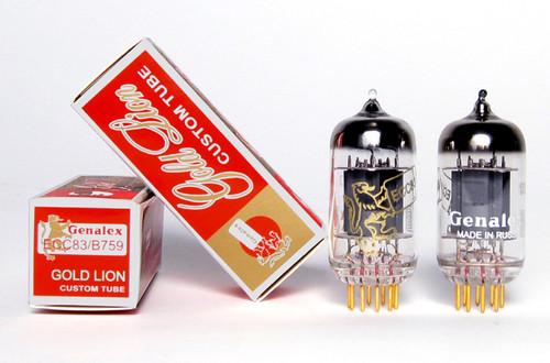 Genalex Gold Lion 12AX7/ECC83/CV4004 Custom Tube Gold Pins