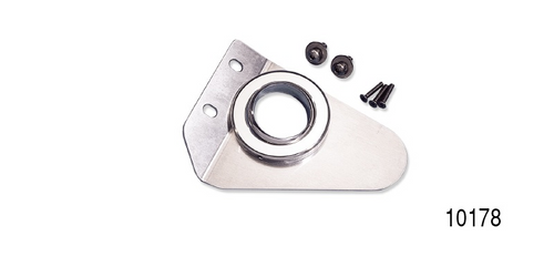 Universal Fit Aluminum Steering Column Floor Mount, Polished Finish