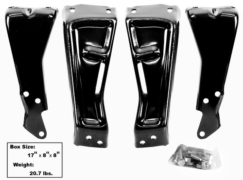 Rear Bumper Bracket 4PC Set 1973-1980 Chevy and GMC Truck