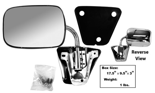 Chrome Exterior Mirror Assembly 1973-1987 Chevy and GMC Truck