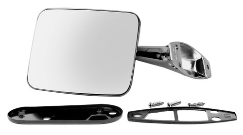 Exterior Mirror Assembly Rectangle Left 1970-1972 Chevy and GMC Truck