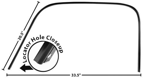 DRIP RAIL/DOOR CROWN TRIM  LH 47-54