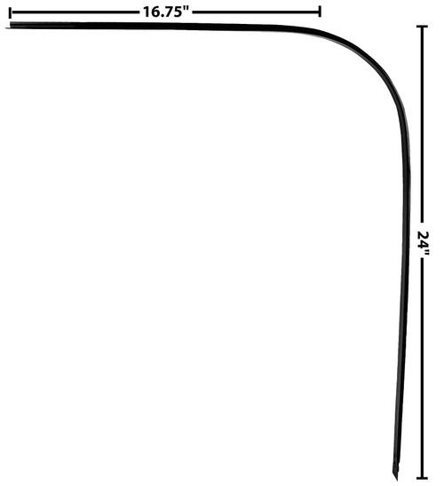 DRIP RAIL/DOOR CROWN TRIM LH 67-72