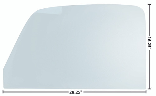 DOOR GLASS 47-50 RH OR LH TINTED