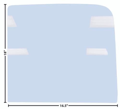 DOOR GLASS 51-55 RH OR LH