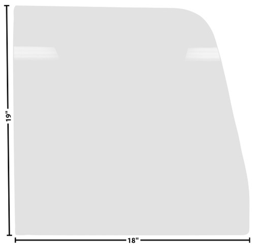 DOOR GLASS 55-59 RH OR LH CLEAR