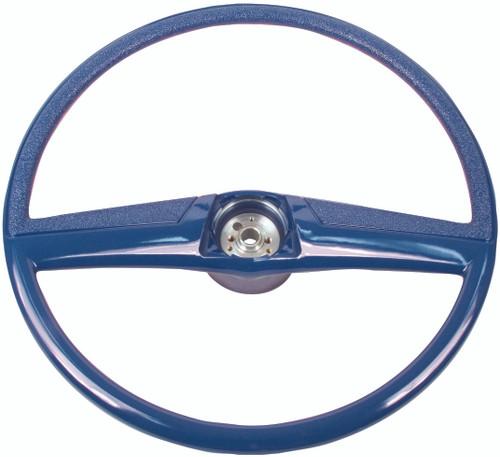 STEERING WHEEL 69-72 BLUE