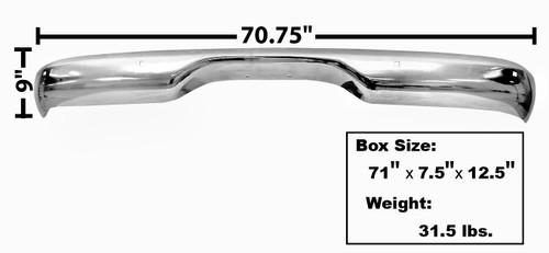 BUMPER REAR CHROME 60-66 STEPSIDE
