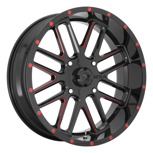 BANDIT GLOSS BLACK MILLED W/ RED TINT