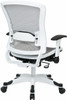 Office Star White All Mesh Office Chair [317W-W11C1F2W] -2