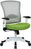 Office Star White Mesh Back Office Chair [317W-W1C1F2W] -1