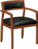 Basyx Wooden Frame Leather Side Chair [VL852] -2