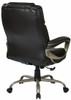 Big Mans Executive Espresso Leather Big and Tall Chair [ECH12801] -3