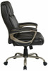 Big Mans Executive Espresso Leather Big and Tall Chair [ECH12801] -2