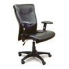 Black Leather Mercado Office Task Chair [2528]