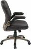 Mid Back Espresso Eco Leather Office Chair [ECH37811] -4