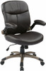 Mid Back Espresso Eco Leather Office Chair [ECH37811] -1