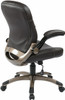 Mid Back Espresso Eco Leather Office Chair [ECH37811] -2