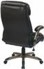 Flip Arm Eco-Leather Executive Chair [ECH38615A] -4
