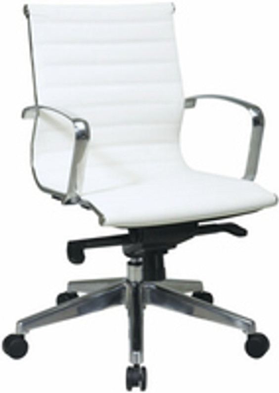 Trendy White Faux-Leather Office Chairs We Love