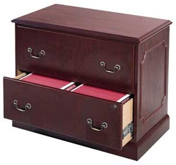 HON 2 Drawer Lateral Wood Finish File Cabinet [94223-NN] -2