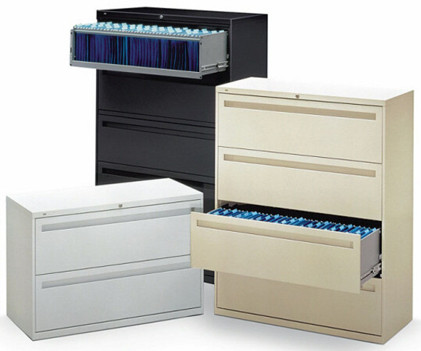 HON 700 Series 4 Drawer Lateral Filing Cabinet [784L] -2