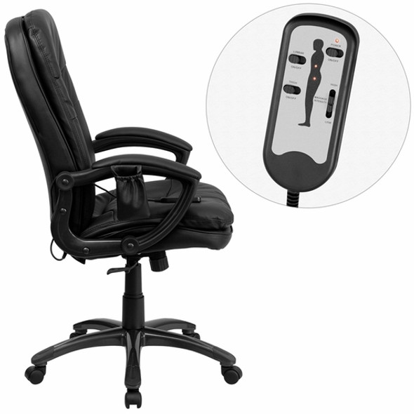 Mid Back LeatherSoft Massaging Office Chair [BT-9585P-GG] -1
