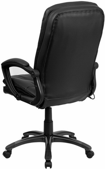 Mid Back LeatherSoft Massaging Office Chair [BT-9585P-GG] -2