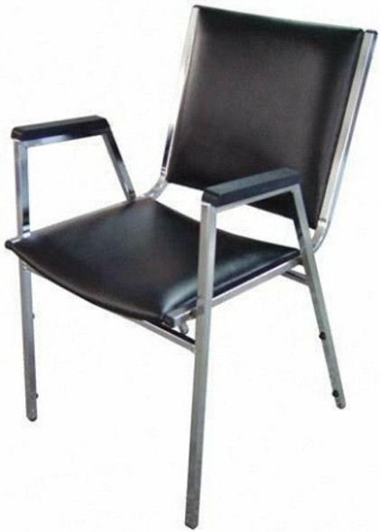 Lorell Armless Vinyl Stacking Chairs [62502] -2