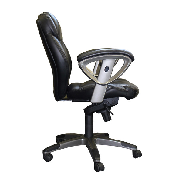 Leather Lumbar Support Office Task Chair [UL330M]