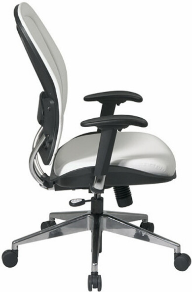Managers White Vinyl Modern Office Chair [33-Y22P91A8] -2