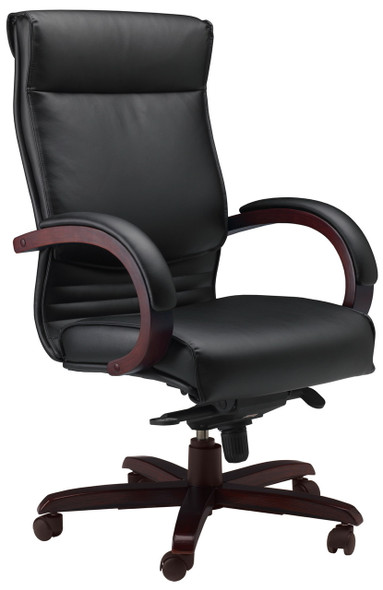 Mayline Corsica High Back Office Chair [CS] -Mahogany