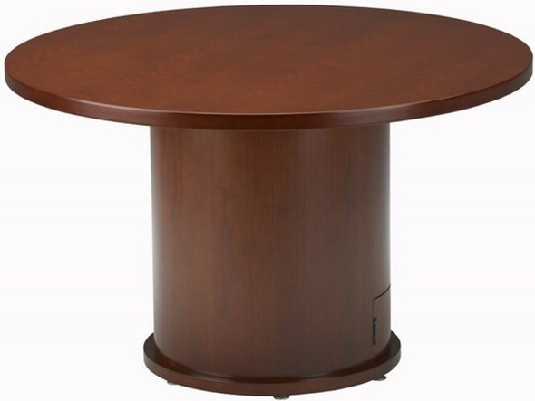 Mayline Mira Round Conference Pedestal Tables [MRTDB] -1