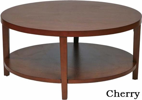 "Merge 36"" Round Wood Coffee Table [MRG12] -1"