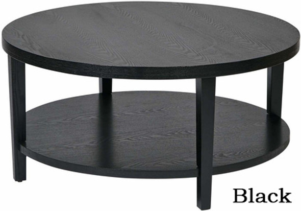 "Merge 36"" Round Wood Coffee Table [MRG12] -2"