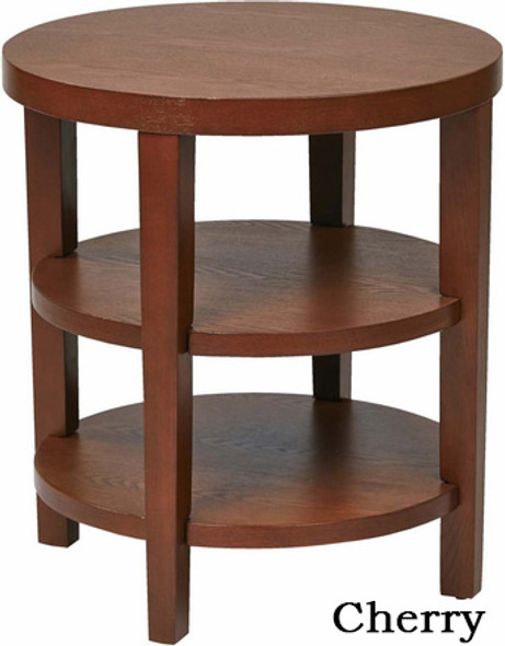 Merge Espresso Round End Table [MRG09] -1